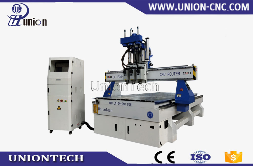 multi spindles auto changing cnc router for door making